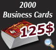 2000 Business cards for 125$