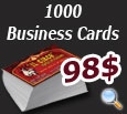 1000 Business cards for 98$